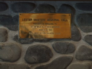 Lester Masters memorial